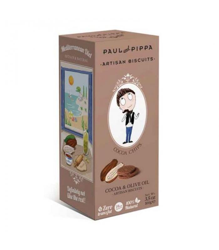 Galletas de Cacao y Escamas de Sal 130gr. Paul & Pippa. 10un. DelicatGourmet