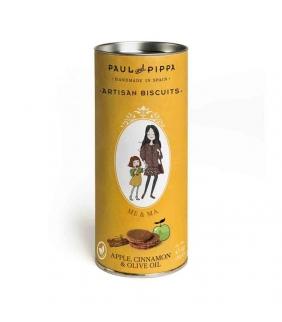 Galletas Canister de Manzana y Canela 130gr. Paul & Pippa. 10un. Delicat Gourmet