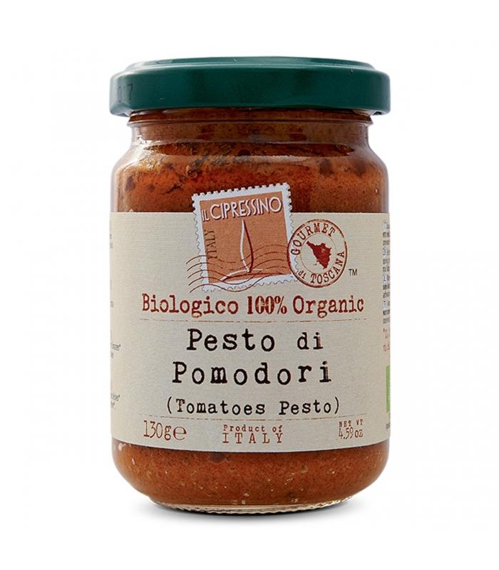 Pesto con Tomate BIO 130gr. Il Cipressino. 6un. Delicat Gourmet
